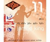 Rotosound JK11 phosphor bronze acoustic guitar strings 11-52 light gauge (2 PACKS)