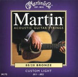 Martin M175 custom light acoustic guitar strings 11-52 (2 PACKS)
