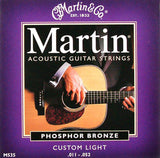 Martin M535 phosphor bronze acoustic guitar strings 11-52 custom light (3 PACKS)