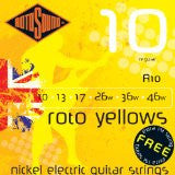 Rotosound R10 electric guitar strings 10-46 - Made in England - (2 PACKS) Includes an extra top E string free!