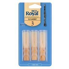 Rico Royal 3 Bb clarinet reeds (Pack of 3)