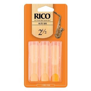 Rico reeds 2.5 for alto saxophone triple pack