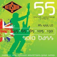 Rotosound RS 555LD solo bass guitar strings 5 string set 45-130