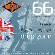 Rotosound RS 66LH drop zone 65-130 bass guitar strings