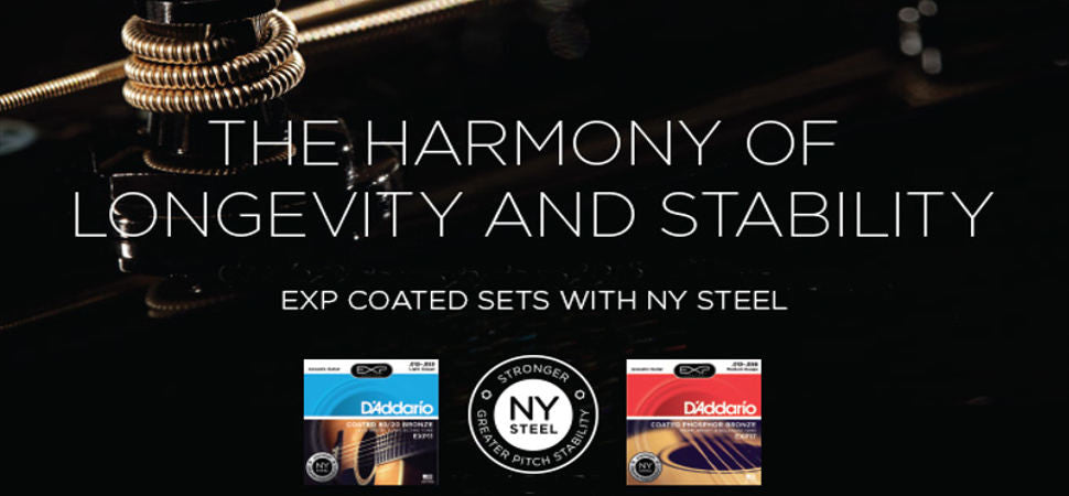 D'Addario's EXP coated strings