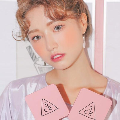 3 CONCEPT EYES Mirror 3CE SQUARE MINI HAND MIRROR PINK RUMOUR - KollectionK