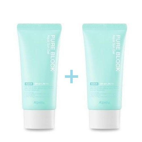 A'PIEU Sunscreen [1+1] A'PIEU Pure Block Aqua Sun Gel SPF50+ PA+++ Bye One Get One - KollectionK
