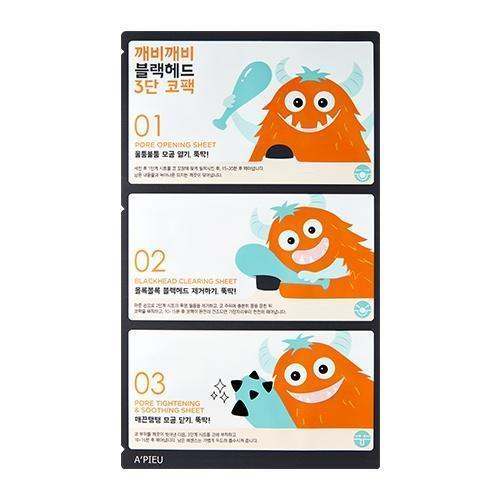 A'PIEU Sheet Mask A'PIEU Goblin Blachead 3-STEP Nose Pack - KollectionK