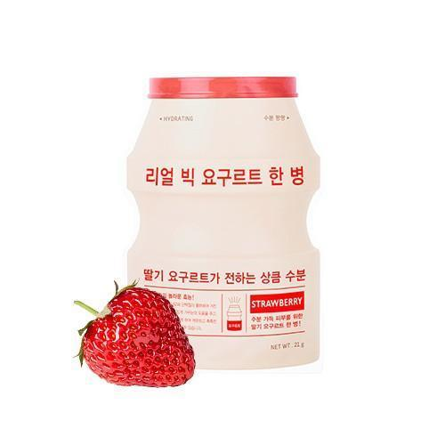 A'PIEU Sheet Mask STRAWBERRY-Moisturizing A'PIEU Real Big Yogurt One Bottle - KollectionK