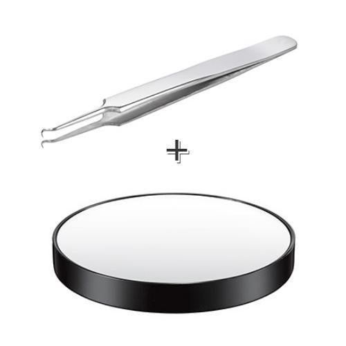 ARITAUM Makeup Tool [1+1] ARITAUM Needle Tweezers and 5X Magnifying Mirror Set - KollectionK