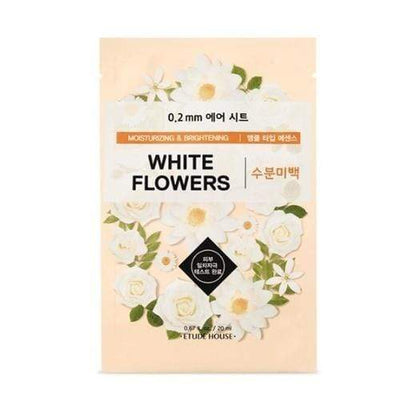 ETUDE HOUSE Sheet Mask WHITE FLOWERS_Moisturizing and Brightening ETUDE 0.2 Therapy Air Mask NEW Spring Ver. - KollectionK