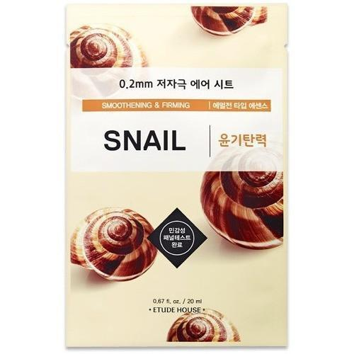 ETUDE HOUSE Sheet Mask Snail: Smoothening and Firming ETUDE 0.2 Therapy Air Mask Sheet - KollectionK
