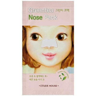 ETUDE HOUSE Sheet Mask #5 Green tea Nose Pack ETUDE Baby Girl Skin: Skin Care Pack - KollectionK