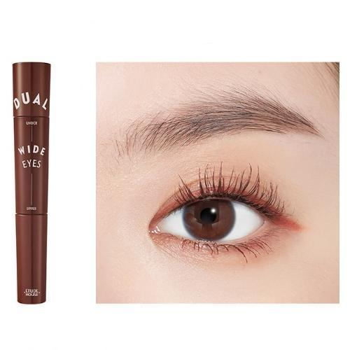 ETUDE HOUSE Mascara No.3 Rose Brown x Rose Brown ETUDE Dual Wide Eyes Mascara - KollectionK