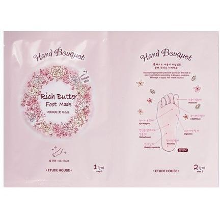 ETUDE HOUSE Foot Care Rich butter foot  Mask ETUDE Hand Bouquet Rich Butter Foot Mask - KollectionK