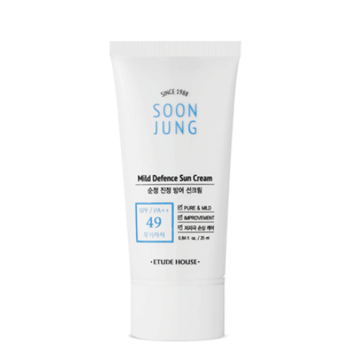 ETUDE HOUSE Sunscreen ETUDE SoonJung Mild Defence Sun Cream Easy Size - KollectionK