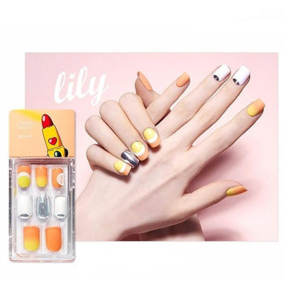 ETUDE HOUSE Nail Tool Lily ETUDE x WEDDING PEACH, Enamelting Gel Nail Art Tip Kit Artificial Nails - KollectionK