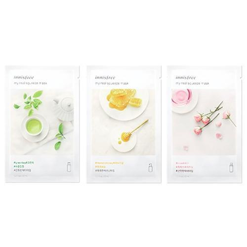 innisfree Sheet Mask ALOE INNISFREE IT'S REAL SQUEEZE MASK - KollectionK