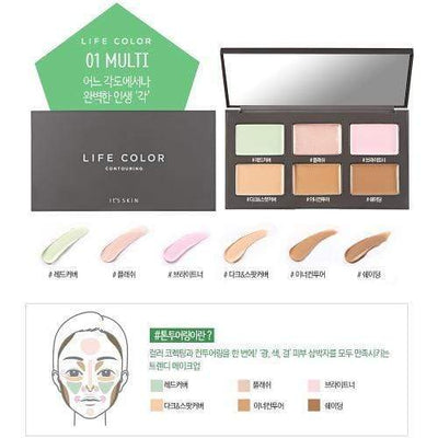 It'S SKIN Face Primer It'S SKIN Life Color Palette Contouring - KollectionK