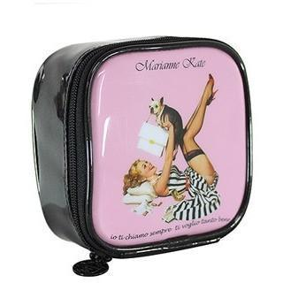 KollectionK Makeup Bag Pink Glam Girl Mini Cosmetic Bag - KollectionK