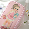 KollectionK Makeup Bag Pink Paper Doll Cosmetic Pouch Pink M - KollectionK