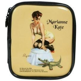 KollectionK Makeup Bag Beige Pin Up Girl 3  Golden Beige - KollectionK