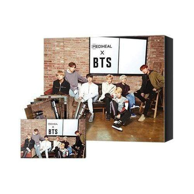 MEDIHEAL Sheet Mask MEDIHEAL x BTS Brightening Care Special Set Mask 10 sheets BTS 14 Photo Cards - KollectionK
