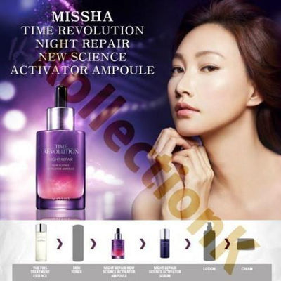 MISSHA Face Lotion 3 generation MISSHA Time revolution Night repair NEW SCIENCE ACTIVATOR AMPOULE - KollectionK
