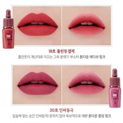 PERIPERA Lip Stain No.19 Bewitched Red Pink PERIPERA Ink VELVET Lip Tint FW New Colors - KollectionK