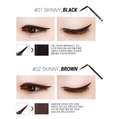 SECRET KEY Eyeliner #01 BLACK SECRET KEY SKINNY Real Quick Eye Liner - KollectionK