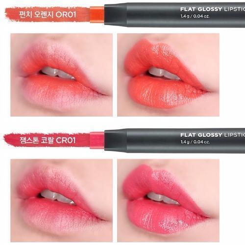 THE FACE SHOP Lipstick OR01_G THE FACE SHOP Flat Grossy Lipstick - KollectionK