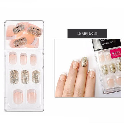 THE FACE SHOP Nail Tool #01 Wedding White THE FACE SHOP Gel Chock Press on Gel Nail Tip Kit Artificial Nails - KollectionK