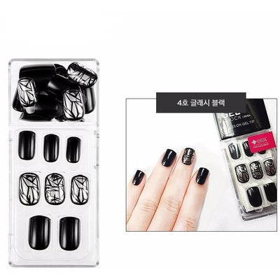 THE FACE SHOP Nail Tool #04 Glassy Black THE FACE SHOP Gel Chock Press on Gel Nail Tip Kit Artificial Nails - KollectionK