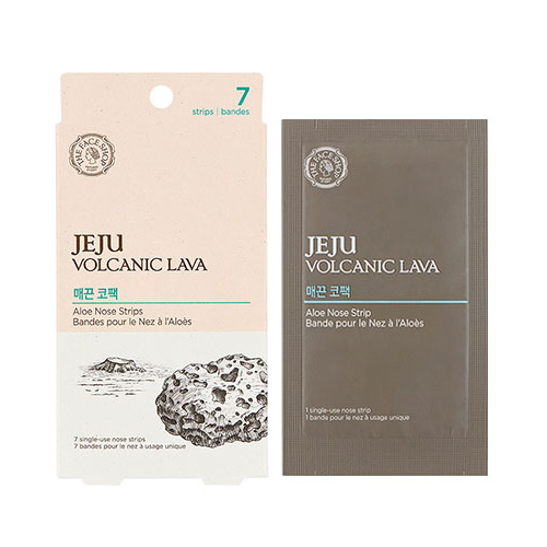 THE FACE SHOP Sheet Mask THE FACE SHOP Jeju Volcanic Lava Aloe Nose Strips 7 sheets - KollectionK