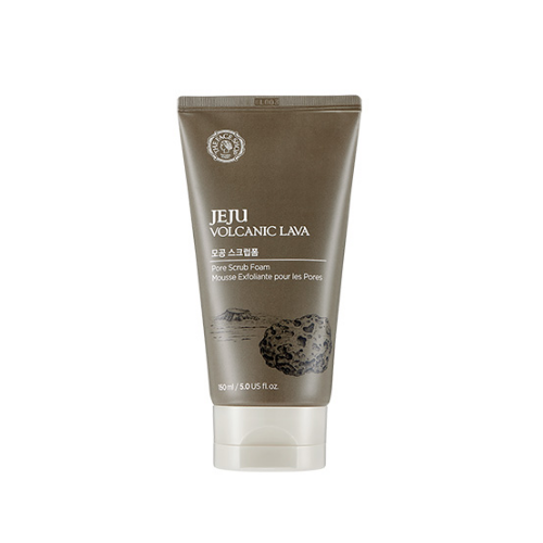 THE FACE SHOP Facial Cleanser THE FACE SHOP Jeju Volcanic Lava Pore Scrub Foam - KollectionK
