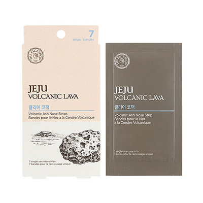 THE FACE SHOP Sheet Mask THE FACE SHOP Jeju Volcanic Lava Volacanic Ash Nose Strips 7 sheets - KollectionK