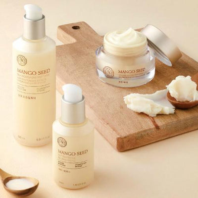 THE FACE SHOP Face Lotion THE FACE SHOP Mango Seed Silk Moisturizing Deep Toner and Emulsion Set - KollectionK