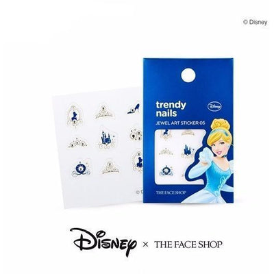 THE FACE SHOP Nail Decor THE FACE SHOP x DISNEY PRINCESSES Trendy Nails Jewel Art Stickers #05 Cinderella - KollectionK
