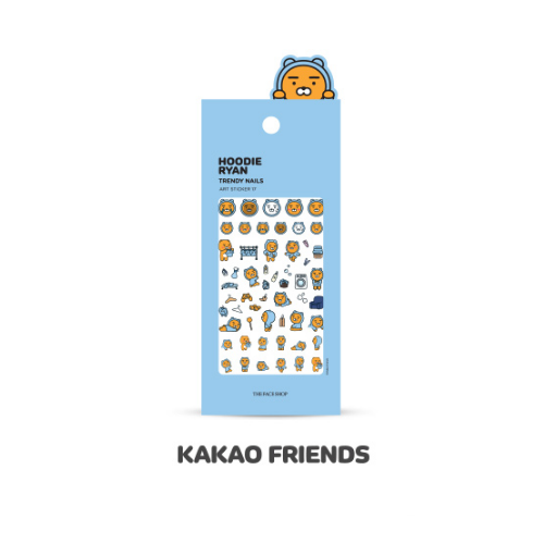 THE FACE SHOP Nail Decor THE FACE SHOP x KAKAO FRIENDS HOODIE RYAN Trendy Nails Art Sticker No.17 HOODIE RYAN - KollectionK