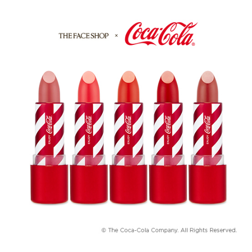 THE FACE SHOP Lipstick No.01_coke THE FACE SHOP x The Coca-Cola Lipstick - KollectionK