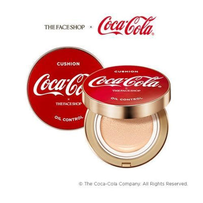 THE FACE SHOP Foundation V201_coke THE FACE SHOP x The Coca-Cola Oil Control Water Cushion - KollectionK