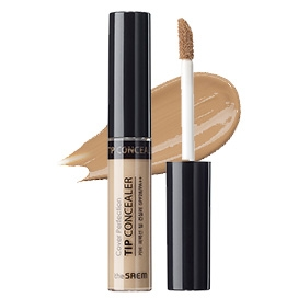 the SAEM Concealer Contour Beige the SAEM Cover Perfection Tip Concealer SPF28 PA++ - KollectionK