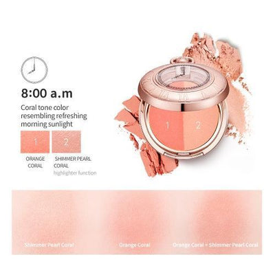 TONYMOLY Blush 8:00 a.m TONYMOLY LABIOTTE MOMENTIQUE Time Blusher - KollectionK