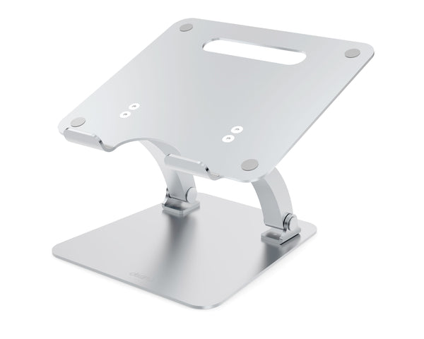 Adjustable Laptop Stand Riser - Supreme Dual Pivot - Silver