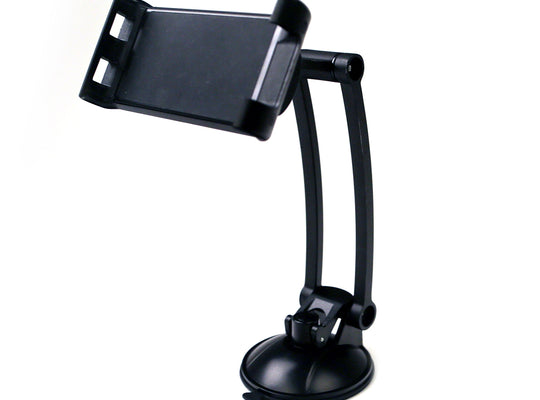 Adjustable Mobile Phone and Tablet Holder - Extended Arm Suction - Black