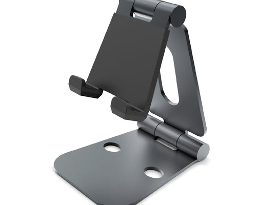 Rotatable Mobile Phone Holder and Tablet Stand - Black