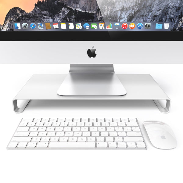 Universal Monitor Stand Riser - Silver