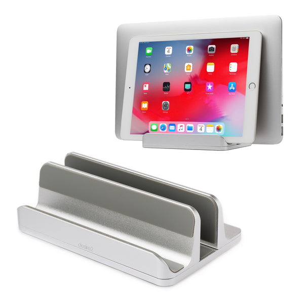 Laptop and Tablet Stand Riser - Desk or Table - Silver