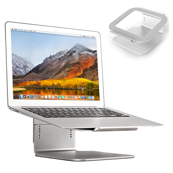 Adjustable Laptop Stand Elevator Riser - Silver