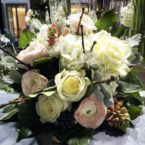 Radiance White & Pastel Hand-Tied Bouquet